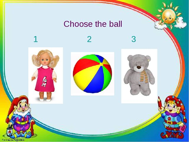Choose the ball 1 2 3