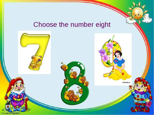 Choose the number eight