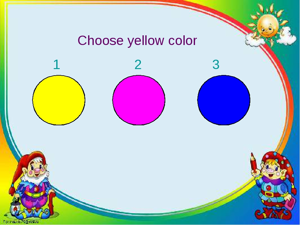 Choose yellow color 1 2 3