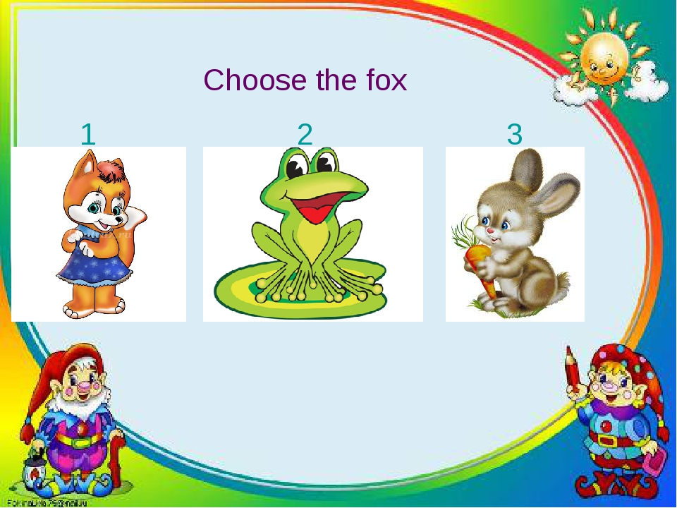 Choose the fox 1 2 3