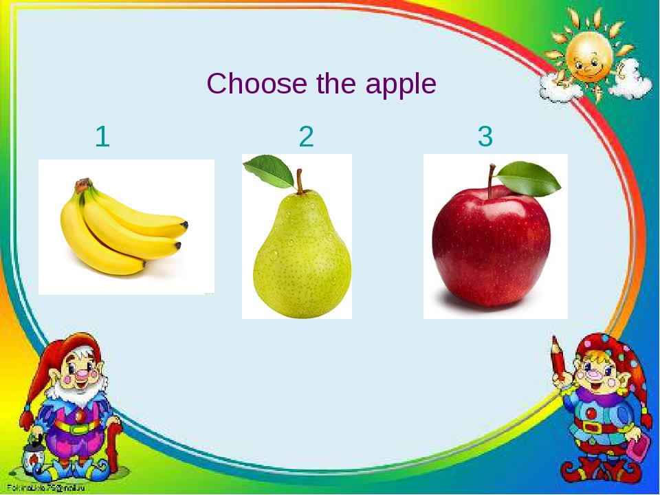 Choose the apple 1 2 3