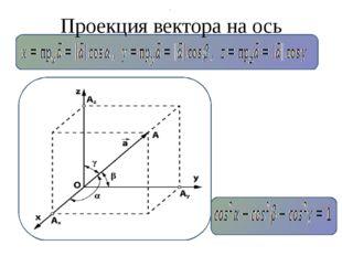 Проекция вектора на ось .