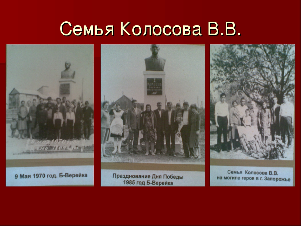 Семья Колосова В.В.