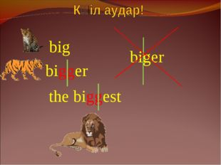 bigger biger the biggest big