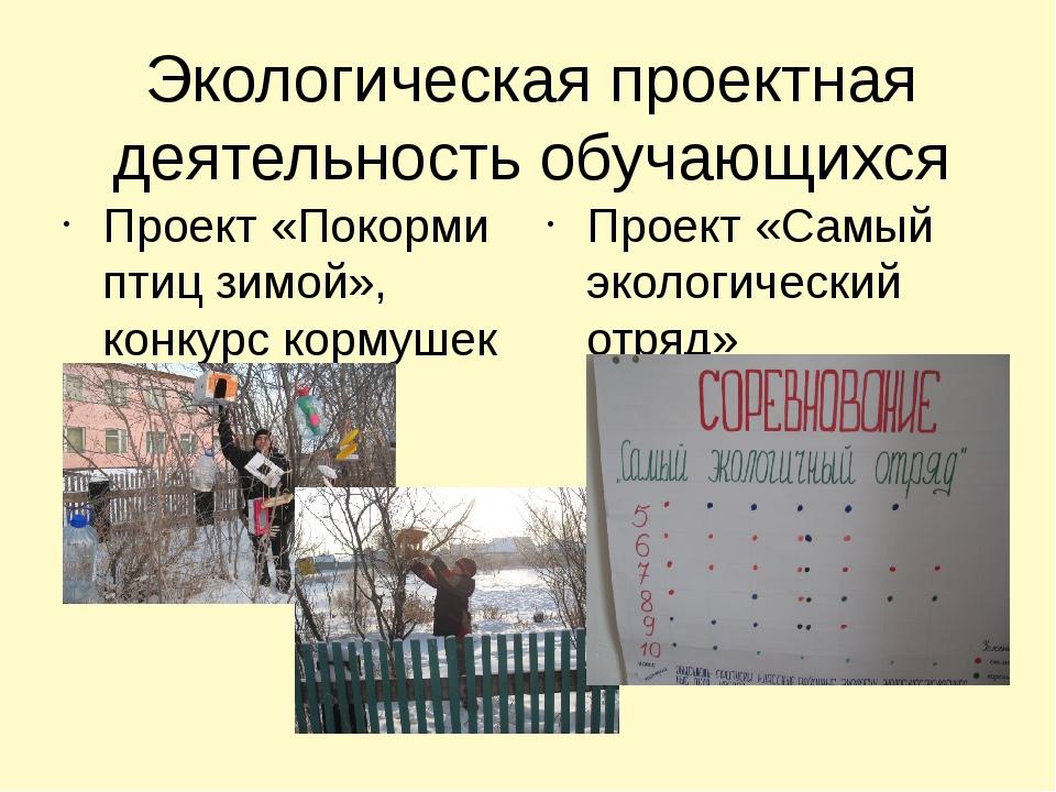 Экологическая проектная деятельность обучающихся Проект «Покорми птиц зимой»,...