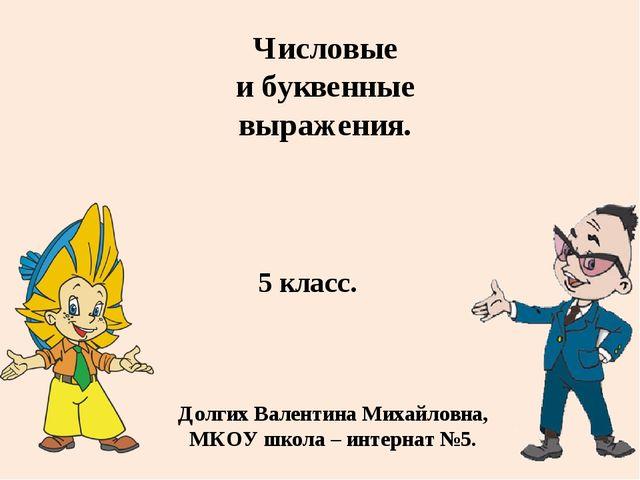 5 класс. Долгих Валентина Михайловна, МКОУ школа – интернат №5. Числовые и бу...