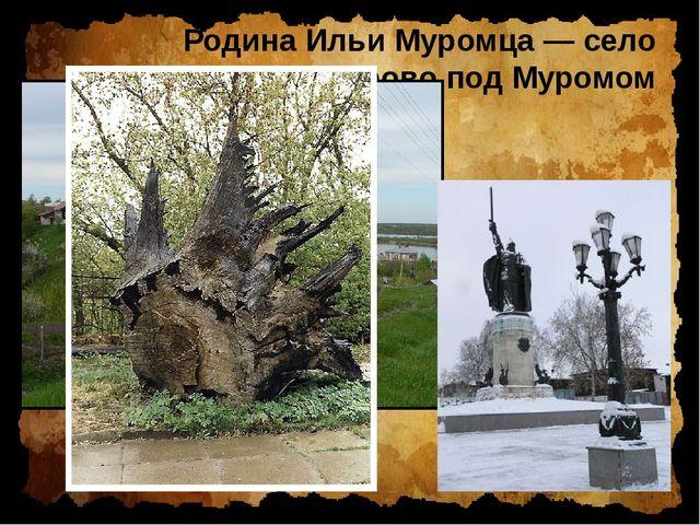 Родина Ильи Муромца — село Карачарово под Муромом