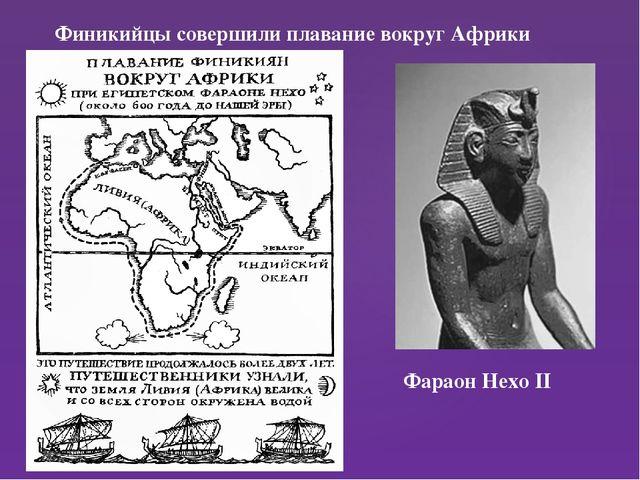 Финикийцы совершили плавание вокруг Африки Фараон Нехо II