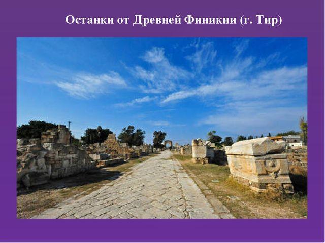 Останки от Древней Финикии (г. Тир)
