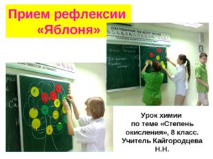 Прием рефлексии «Яблоня» Урок химии по теме «Степень окисления», 8 класс. Учи