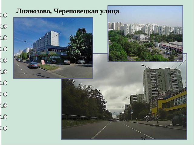 Лианозово, Череповецкая улица
