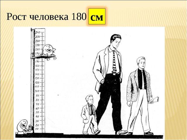 Рост человека 180