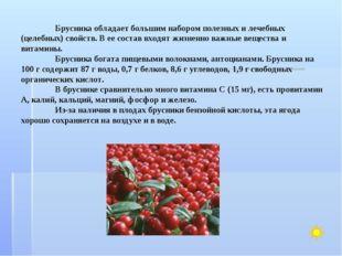 Брусника обладает большим набором полезных и лечебных (целебных) свойств. В