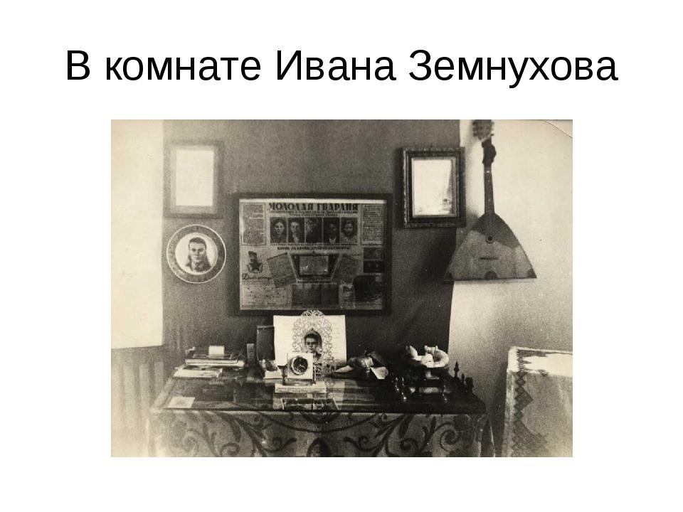 В комнате Ивана Земнухова