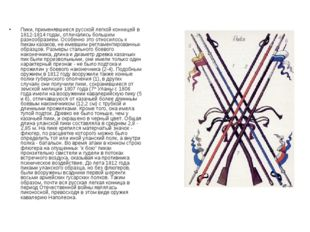 Пики, применявшиеся русской легкой конницей в 1812-1814 годах, отличались бол