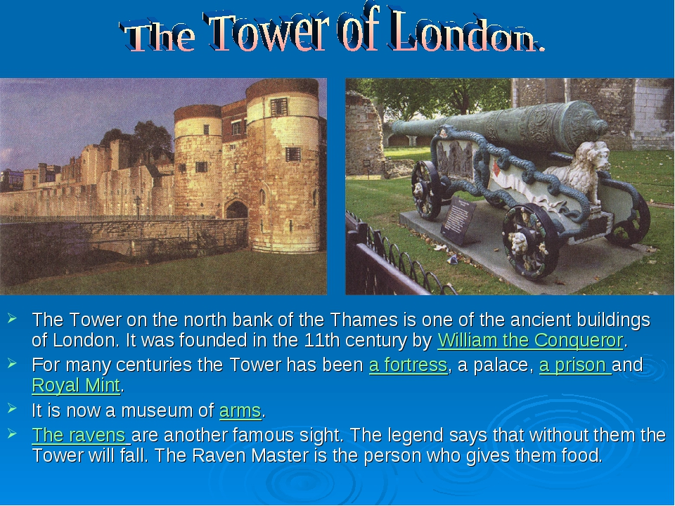The Tower on the north bank of the Thames is one of the ancient buildings of...