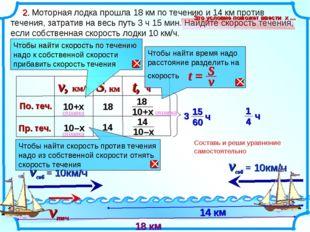 2. Моторная лодка прошла 18 км по течению и 14 км против течения, затратив н