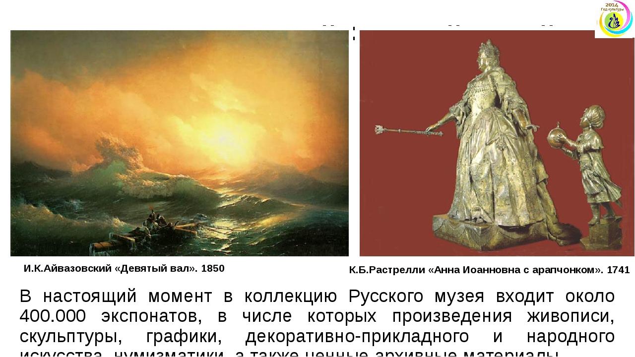 Государственный Русский музей В настоящий момент в коллекцию Русского музея в...