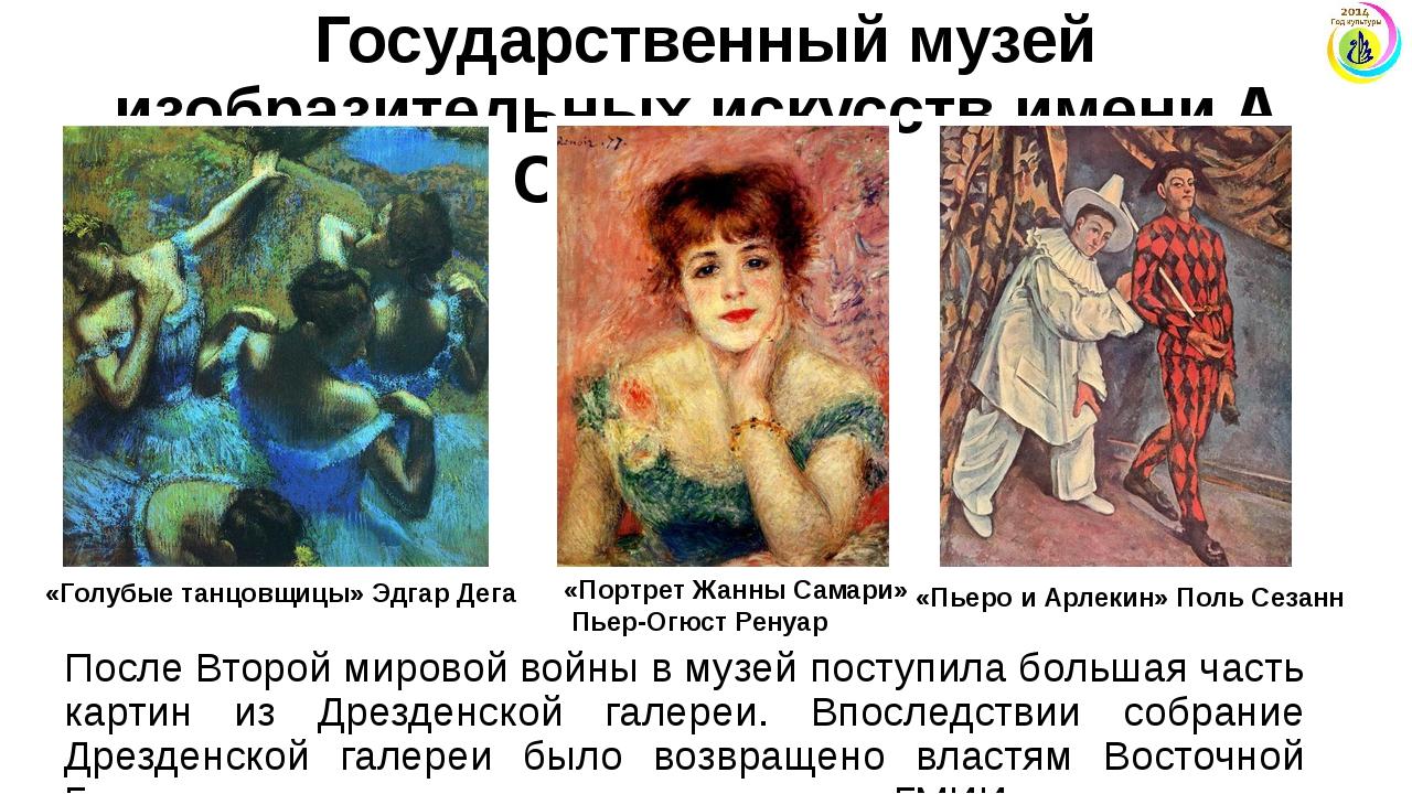 Государственный музей изобразительных искусств имени А. С. Пушкина После Втор...
