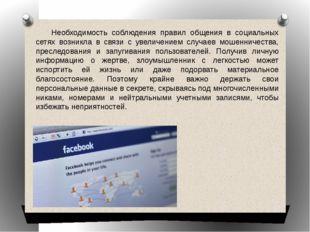 Необходимость соблюдения правил общения в социальных сетях возникла в связи