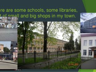 There are some schools, some libraries, a lot of small and big shops in my to
