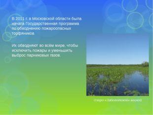 В 2011 г. в Московской области была начата Государственная программа по обвод