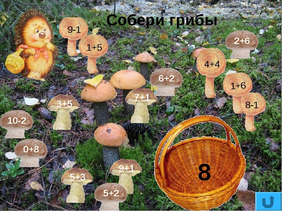 Собери грибы 8