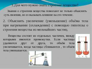 1.Для чего нужно знать строение вещества? Знания о строении вещества помогают
