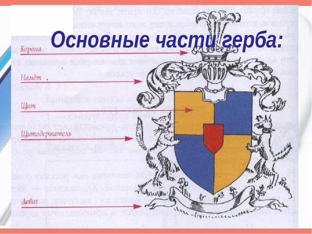 Основные части герба:
