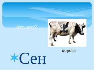 Сено день и ночь жуёт, Много молока даёт. Кто это? корова