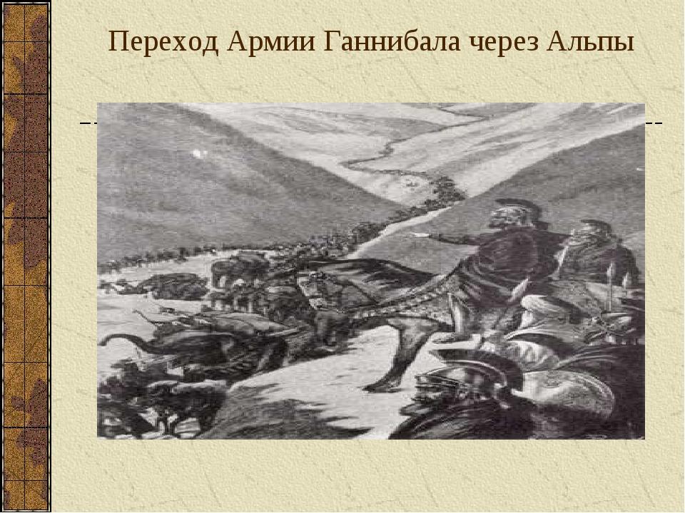 Переход Армии Ганнибала через Альпы