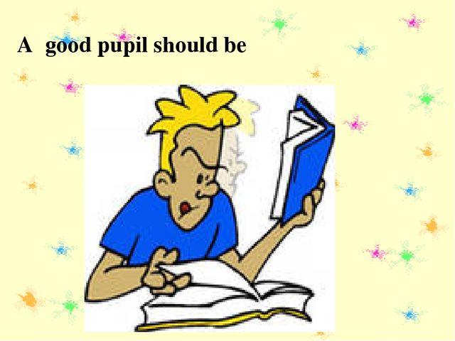 A good pupil should be