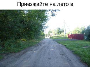 Приезжайте на лето в деревню…
