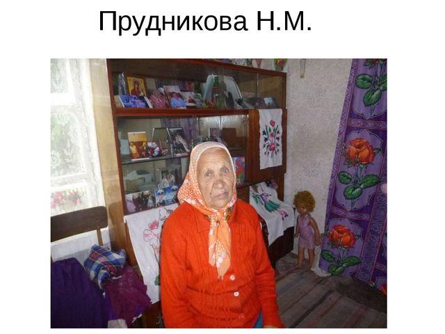 Прудникова Н.М.