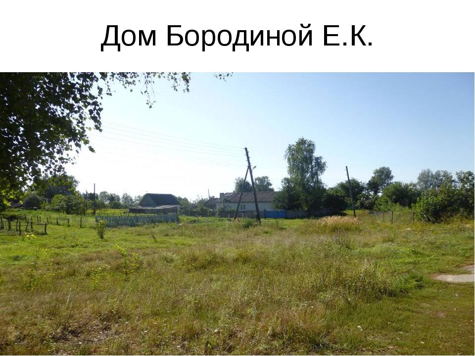 Дом Бородиной Е.К.