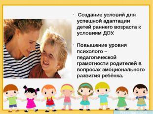 Prezentacii.com Создание условий для успешной адаптации детей раннего возраст