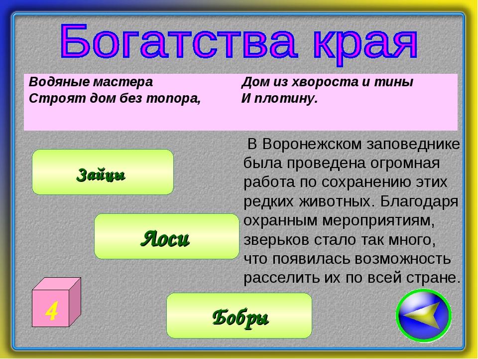 Водяные мастера Дом из хвороста и тины Строят дом без топора, И плотину. Бо...