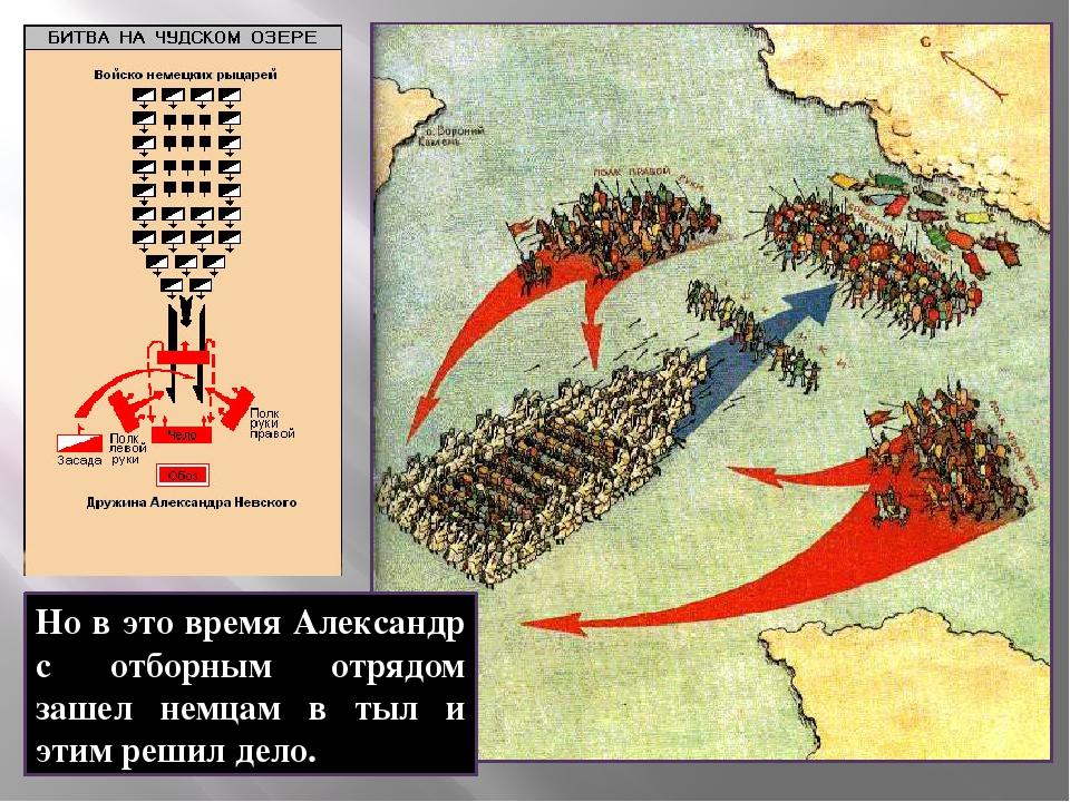 Но в это время Александр с отборным отрядом зашел немцам в тыл и этим решил д...