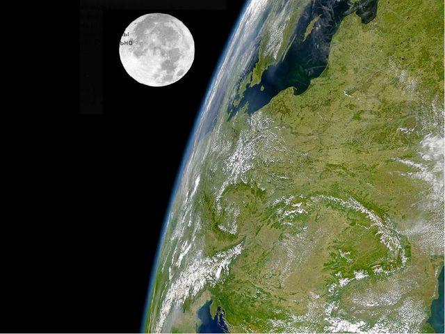Луна из космоса тоже видна как шар. Луна намного меньше нашей планеты Земля....