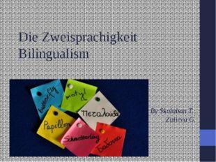 Die Zweisprachigkeit Bilingualism By Skalaban T., Zalieva G.