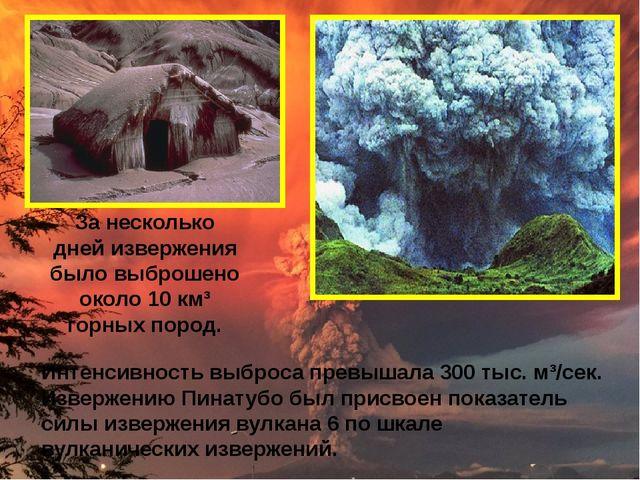 Интенсивность выброса превышала 300 тыс. м³/сек. Извержению Пинатубо был прис...