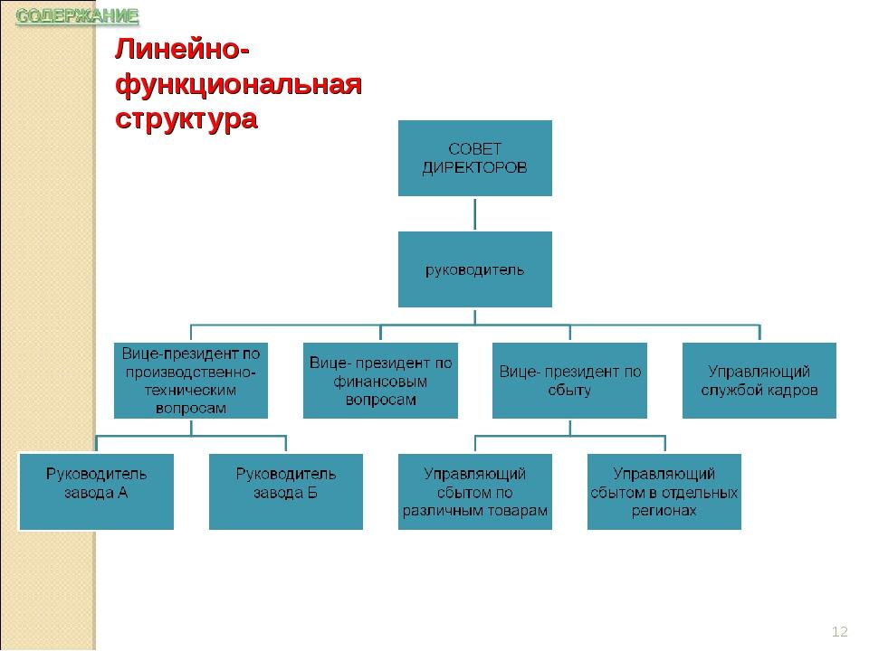 Линейно-функциональная структура *