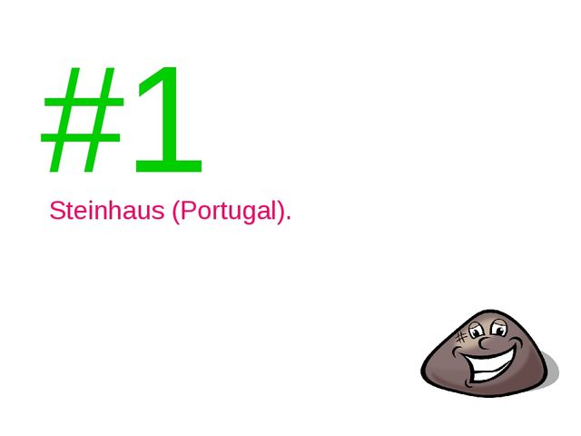 #1 Steinhaus (Portugal).