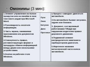 Омонимы (3 мин): 1.Элемент управления на полосе прокрутки или на линейке в о