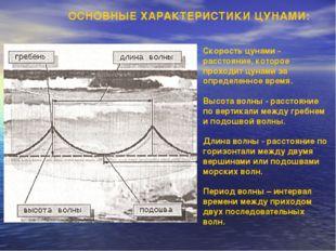 Скорость цунами - расстояние, которое проходит цунами за определенное время.