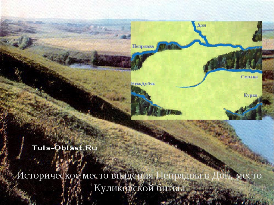 Историческое место впадения Непрядвы в Дон, место Куликовской битвы