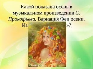 Какой показана осень в музыкальном произведении С. Прокофьева. Вариация Феи о