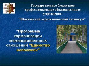 """Государственное бюджетное профессиональное образовательное учреждение """"Шатков"""