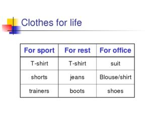 Clothes for life