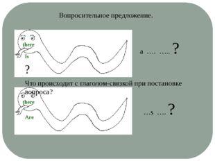 Вопросительное предложение. a …. ….. ? …s …. ? ? Что происходит с глаголом-св